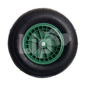 Kruiwagenwiel groen kunststof velg 4.80/4.00-8