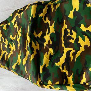 Skelterstoel hoes leger geel/bruin/groen