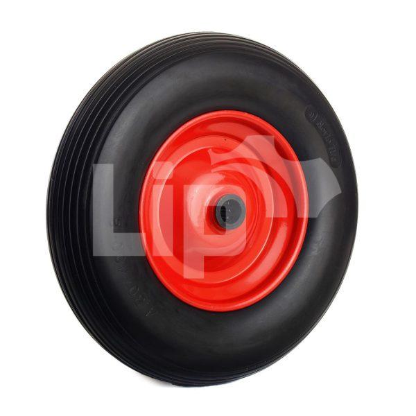 Kruiwagenwiel / skelterwiel anti lek naaldlager 20 mm ronde as 250 kg