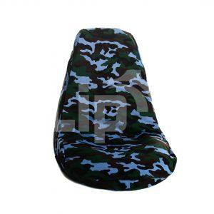 Skelterstoel hoes legerblauw