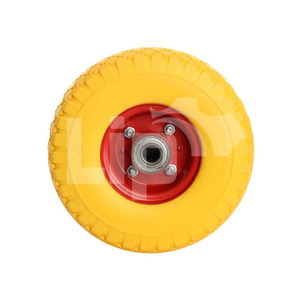 Bolderkarwiel anti-lek 3.00-4 (260×85) 20 mm as geel/rood