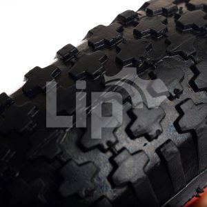 3 skelterwielen met ronde as en 1 aandrijfwiel 25 mm 4.80/4.00-8 nop profiel