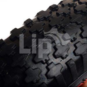 Aandrijfwiel met noppenprofiel. Vierkante as 25 x 25 mm
