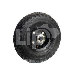 Bolderwagen wiel zwarte velg kogellager 3.00-4 (260×85)