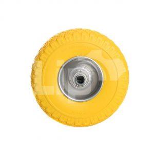 Steekwagenwiel antilek 3.00-4 (260×85) zilver/geel