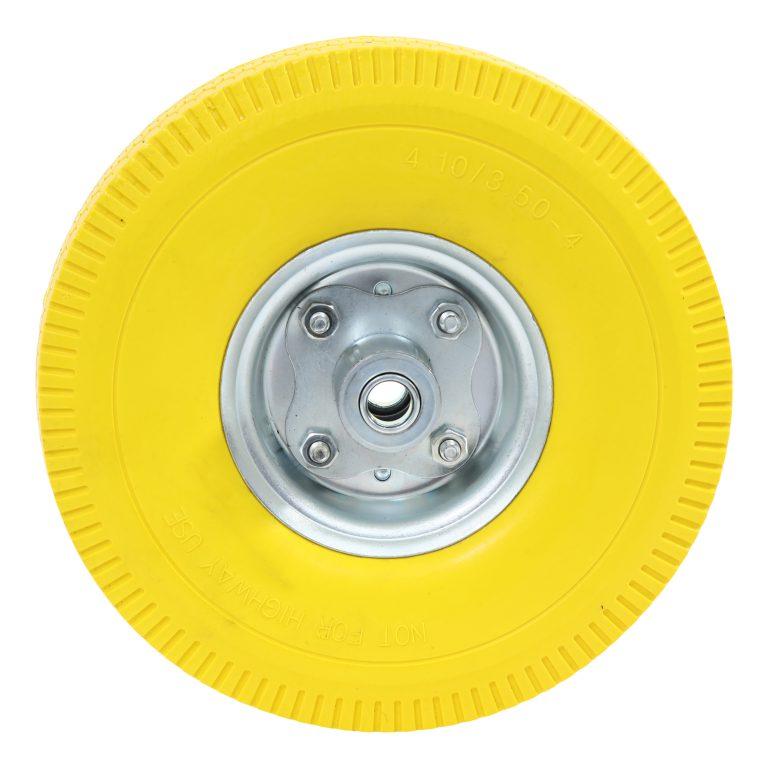 Steekwagenwiel anti lek 4.10/3.50-4 (350×10) 16 mm Ø as