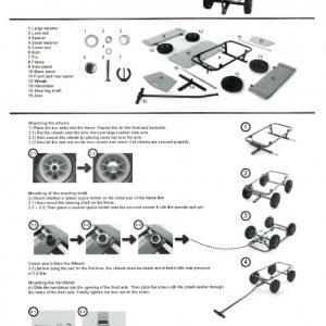 Bolderkar / bolderwagen 92 x 61 x 98 cm met antilek banden