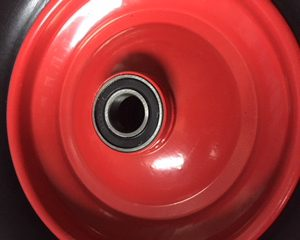 Kruiwagenwiel / skelterwiel anti lek 25 mm Ø kogellager 250 kg